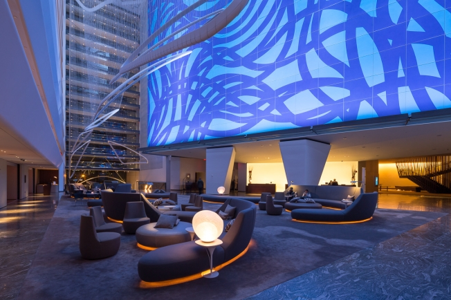 Conrad New York - lobby (evening)